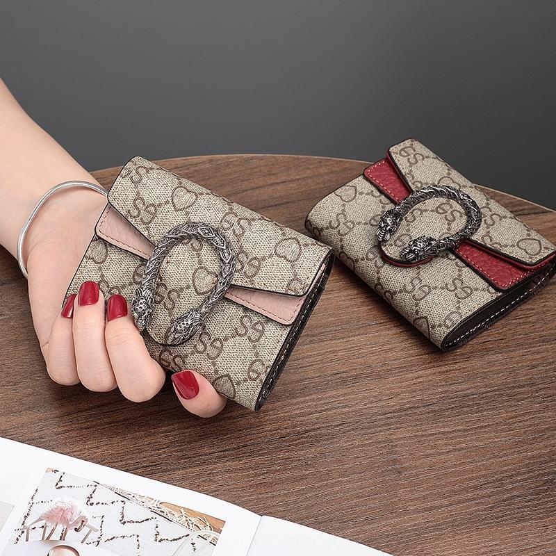 2020 nuova borsa organo femminile portafoglio dionisiaco piccolo grande capacità multi-carta ultra-sottile borsa della moneta di carta walletwallet walletcute