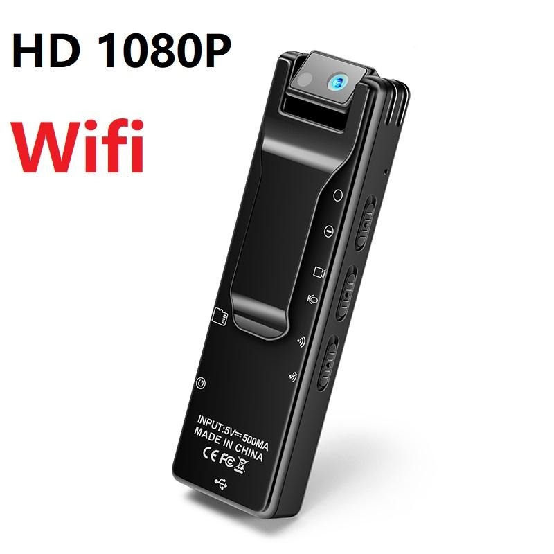 A16 Wifi Wearable Mini clip Camcorders HD 1080P Wifi mini body camera with 180 degree rotating lens Motion Detection Voice video Recorder