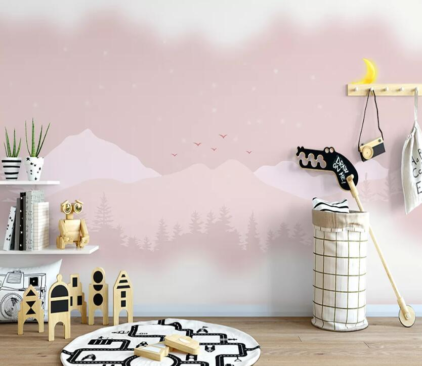 Papel pared de la montaña de color [autoadhesivo] 3D WC0864 mural Impresión de la pared pared de la etiqueta murales Muzi