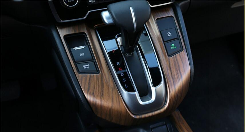 لهوندا CR-V 2017 فاخرة الخشب كروم سيارة جير الداخلية لوحة زخرفية الإطار غطاء الزخارف السيارات اكسسوارات التصميم السيارات