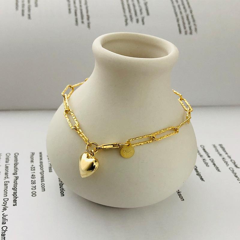 Корейский 925 стерлингового серебра браслеты для женщин 2020 Сердце Шарм браслет-цепочка подарок для девушки Friend Fine Jewellry Pulseras