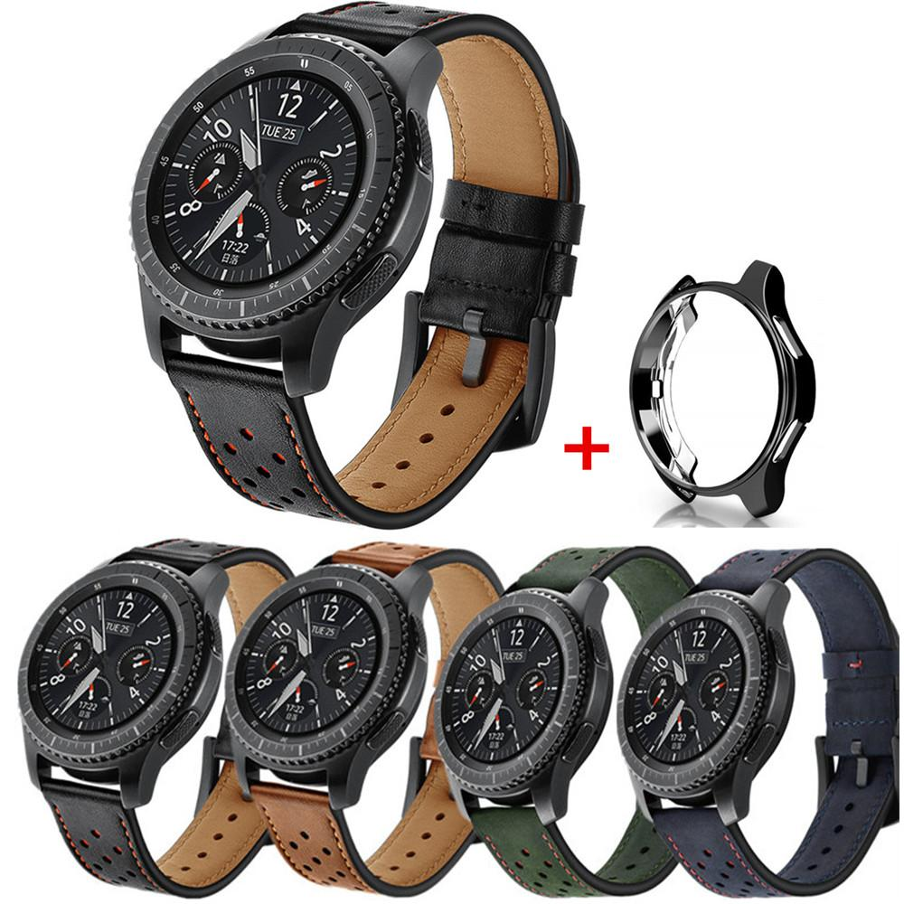 meilleures baskets e57d5 f5cb5 Case+Watch Band For Samsung Gear S3 Frontier Classic Galaxy Watch 46mm  Retro Genuine Leather Huami Amazfit 22mm Bracelet Belt Buy Watch Straps Buy  ...