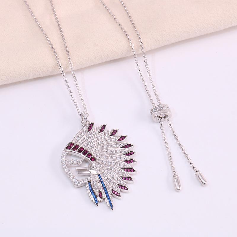 Colar Feather Meteoritos atacado- Meteoritos Feather Necklace Colar de Prata 925 Sterling Sliver para as mulheres moda e aparência moderna