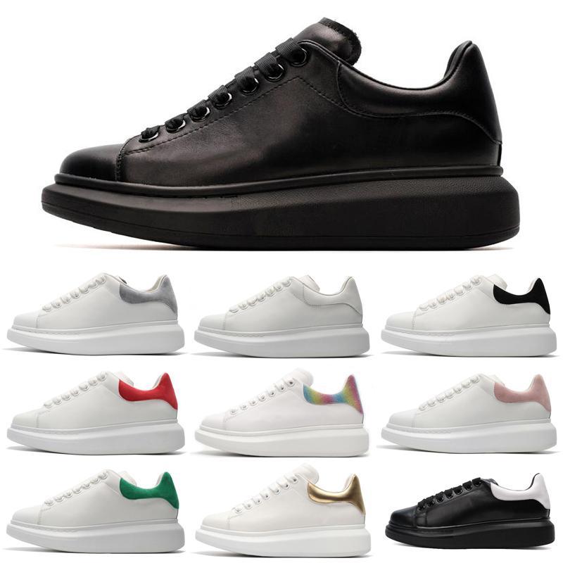 01 2019 hombres del diseñador de 3M reflectantes mujeres blancas zapatos al aire libre triple negra para hombre del oro negro rojo instructor zapatilla de deporte plana cómoda de color rosa