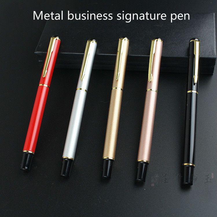 1pc 0,5 milímetros de recarga de Black Metal caneta gel caneta esferográfica Anúncio presente do escritório Business Affairs Stationery Office Atacado