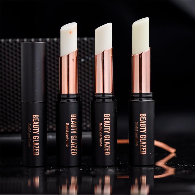 아름다움 유약 4 냄새 맡은 남성용 솔리드 향수 여성 립스틱 모양의 지속 된 향수 솔리드 볼크 더 내구성 냄새 제거제