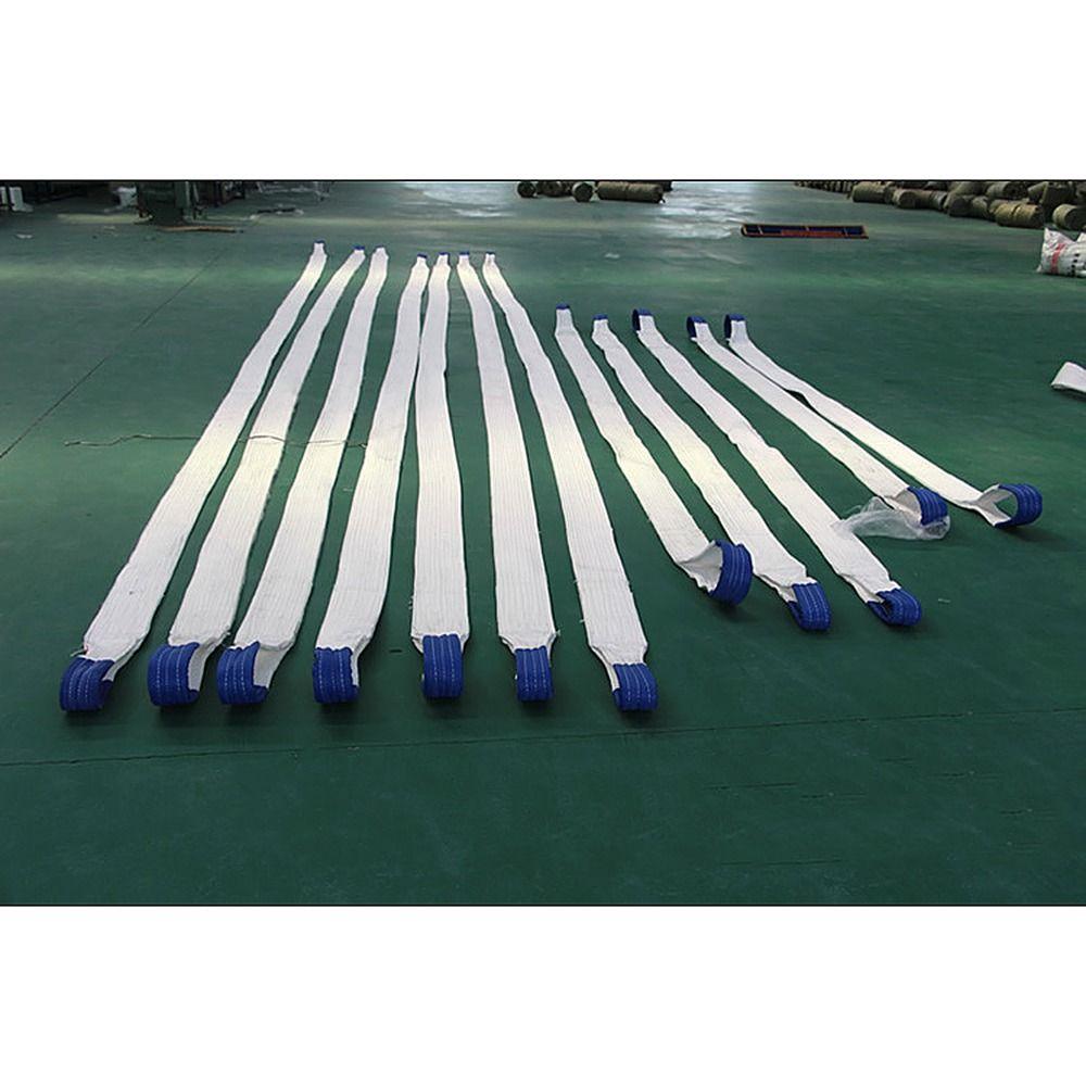 3T 2/4 / 6M piano bianco di sollevamento tessitura Sling ad alta resistenza di sollevamento cintura merci sollevamento Strap - 1 Pz