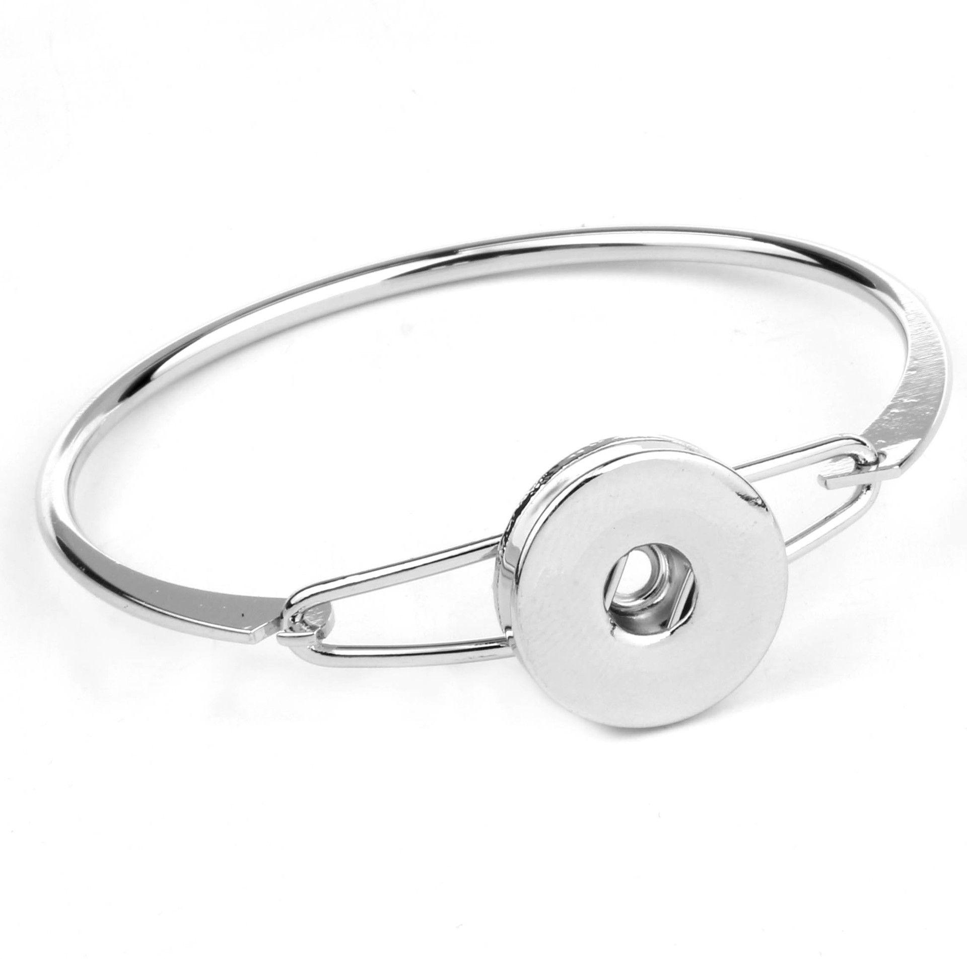 18MM Date Snap Bijoux Gingembre Snap Bracelet En Métal Charme Strass En Aluminium Bouton Bracelets Pour Femmes
