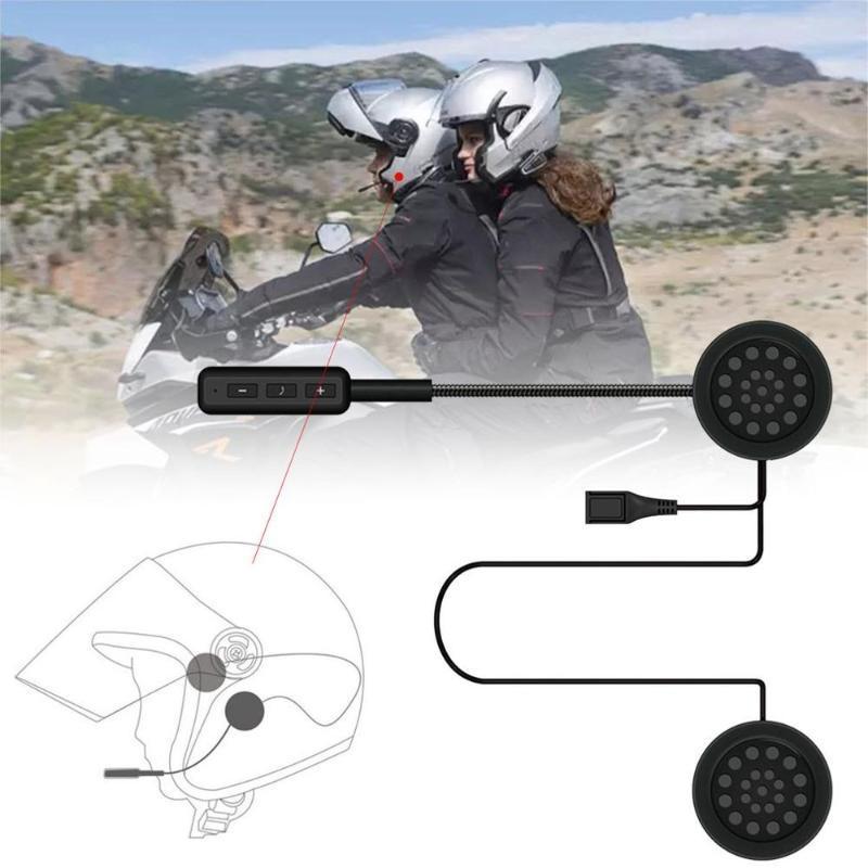 MH01 Motorcycle Helmet Headset atender automaticamente Anti-interferência Para capacete da motocicleta Mãos Guia Headphone gratuito