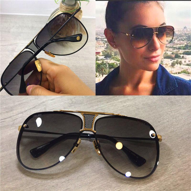 팝 선글라스 20 남자 디자인 금속 빈티지 안경 패션 스타일 파일럿 Frameless UV 400 렌즈 케이스