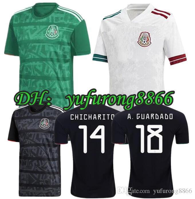 19 20 Mexique H.LOZANO DOS SANTOS Chicharito Football chemise 2019 2020 Gold Cup sport femme homme adulte H. HERRERA A. maillot de football GUARDADO