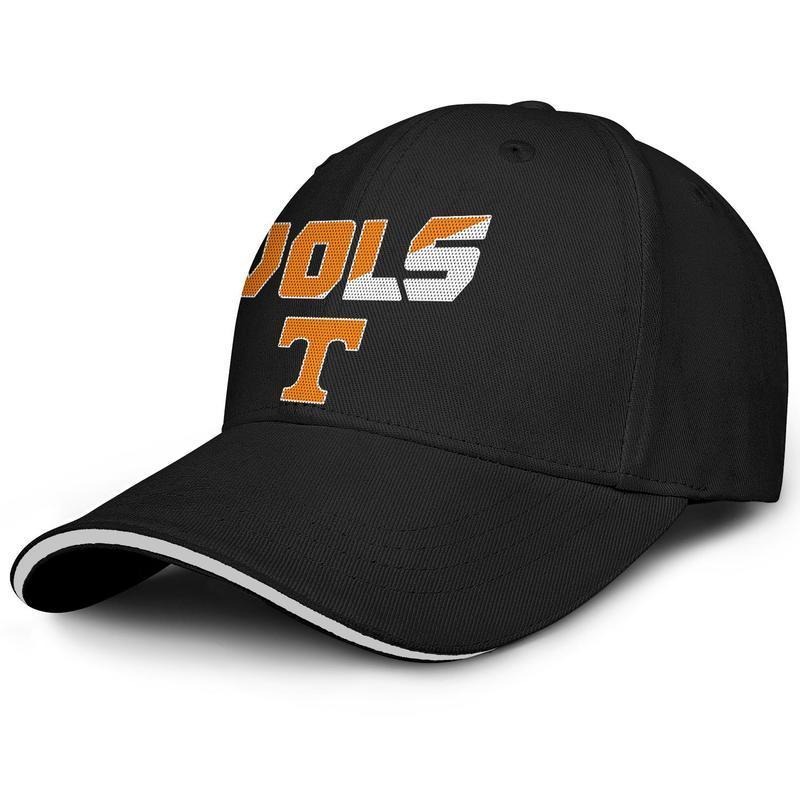 Unisex Tennessee Volunteers Football Logo Black Fashion Baseball Sandwich Hat Custom Cute Truck driver Cap football logo Mesh black USA