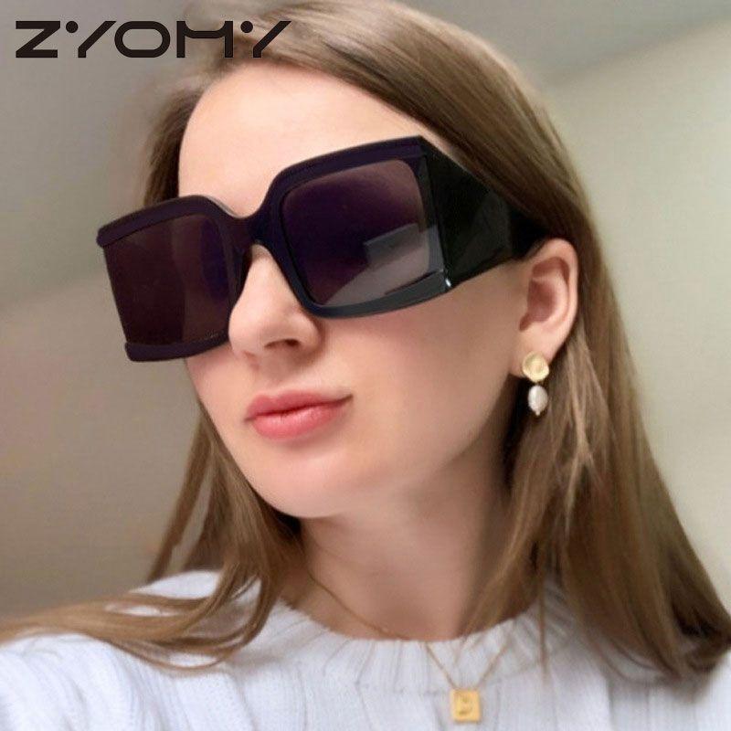 European Style Street Rrtro Pat Multicolors PC Unisex Gafas Personal Marco grande gafas de sol de moda