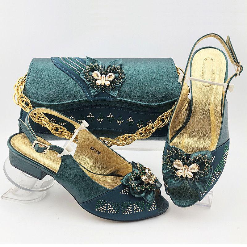Nice olhando d.green mulheres sapatos com borboleta-nó decoração africano medinho sapatos fósforo set mm1108, calcanhar 3.8cm