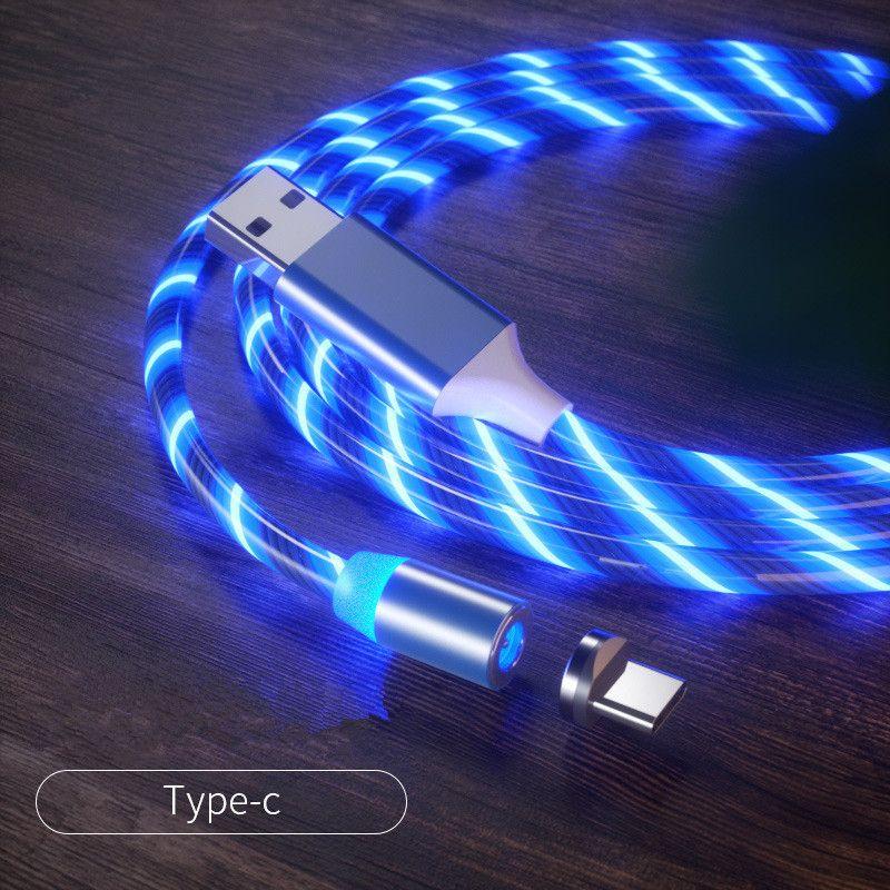 Стример магнитный кабель для передачи данных подходит для Android-типа C мобильного телефона магнитной зарядки линии, чтобы поток света