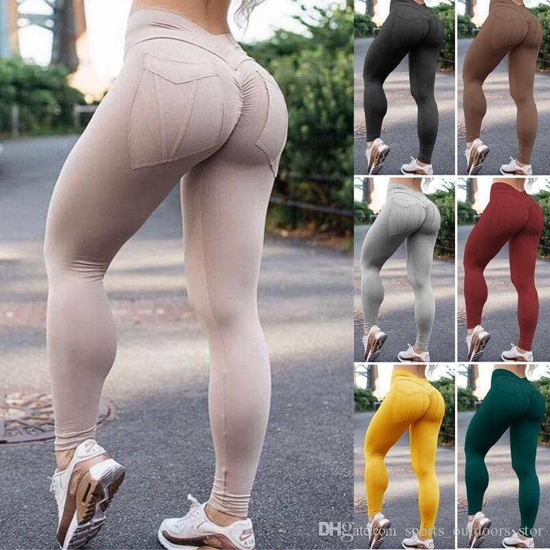New Womens Ladies Fitness Running Sport Yoga Pants Stretchy Breathable Comfortable Quick Drying Skinny Yoga Sport Leggings Sweatpants