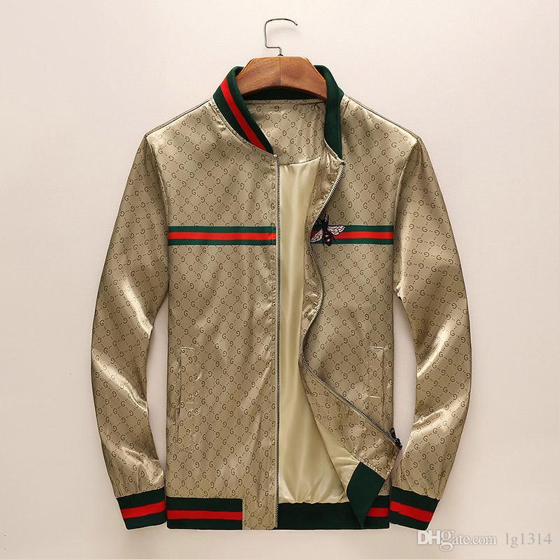2019 New Fashion Brand Jacket Uomo Inverno Autunno Slim Fit Uomo Designer Abiti Red Men Giacca casual Capispalla slim