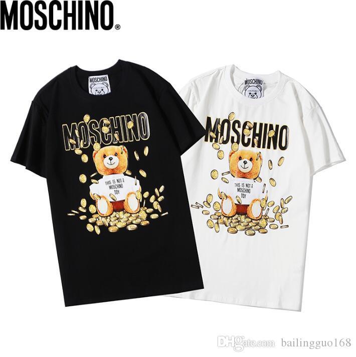 Les nouveaux hommes et les femmes T-shirt de mode de marque DFMoschino Original Design Hip Hop Hommes T-ShirtDigital impression directe à manches courtes T-shirt