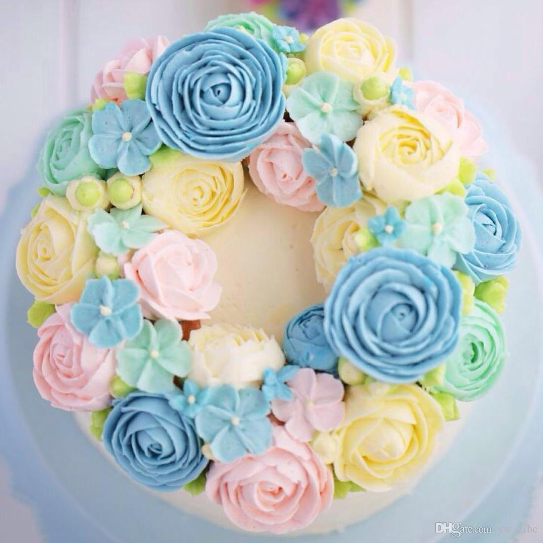 3D DOUBLE ROSE MOULD Silicone Cookie Fondant Cake Soap Chocolate Baking Flower