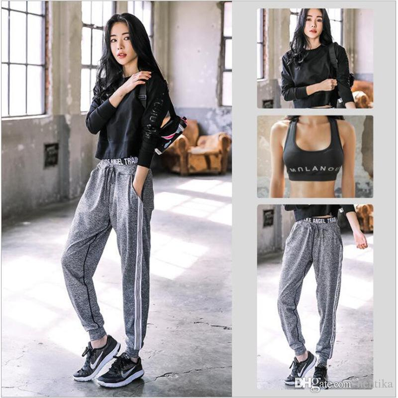 Three Piece Sets Women Sports Clothing Gym Long Sleeve Hoodies Yoga Bra Fitness Pants Cotton Plus Size Women Tracksuits For Sportswear