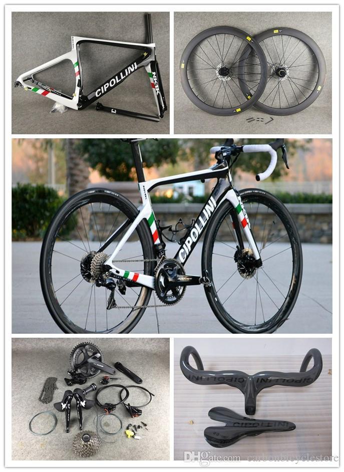 Disque Cipollini Nk1k Carbon Road Racing complet Bike R7020 R8020 GroupSet Cipollini Carbon Guidon Centre Lock HUBCENTER