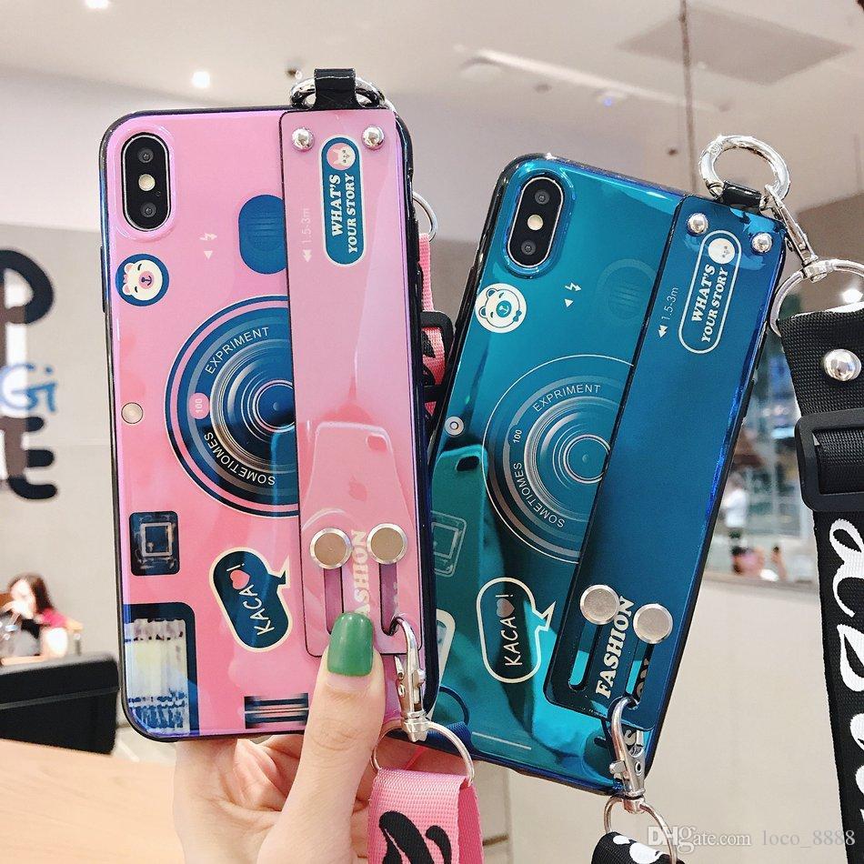 Custodie Smartphone IPhone Xs Max Cover Retro Modello Cinturino Da