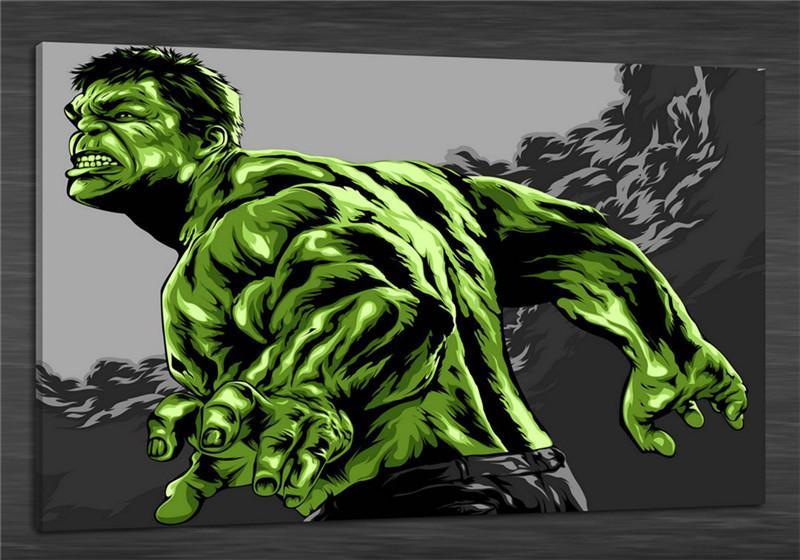Hulk Superheroes Comic Canvas Poster Art Prints 8x12 24x36 inches Wall Decor