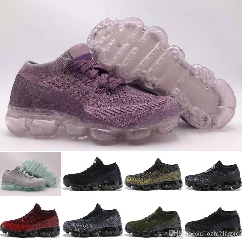 Nike air max Bébé Enfants Chaussures Nouveau 2018 Course Chaussures Enfants Athlétique Chaussures Garçon Fille Formation Sport Baskets Noir Blanc Gris Orange Pourpre taille 28-35