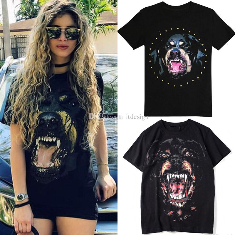 Woman Rottweiler Dog T-Shirt Ladies 2020 SS Street Tee NEW Printed Shortsleeves Cotton Top Girls Good Quality
