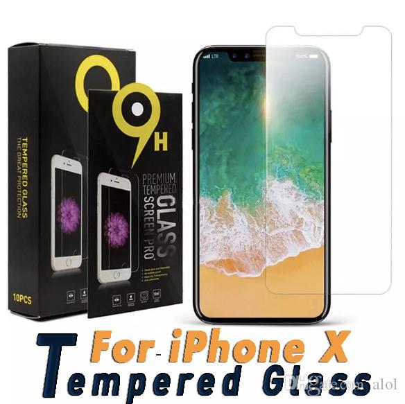 For iPhone X XS Max XR Tempered Glass Screen Protector For iPhone 7 7 8 Plus Pixel 3 XL Film 0.33mm 2.5D 9H Paper Package