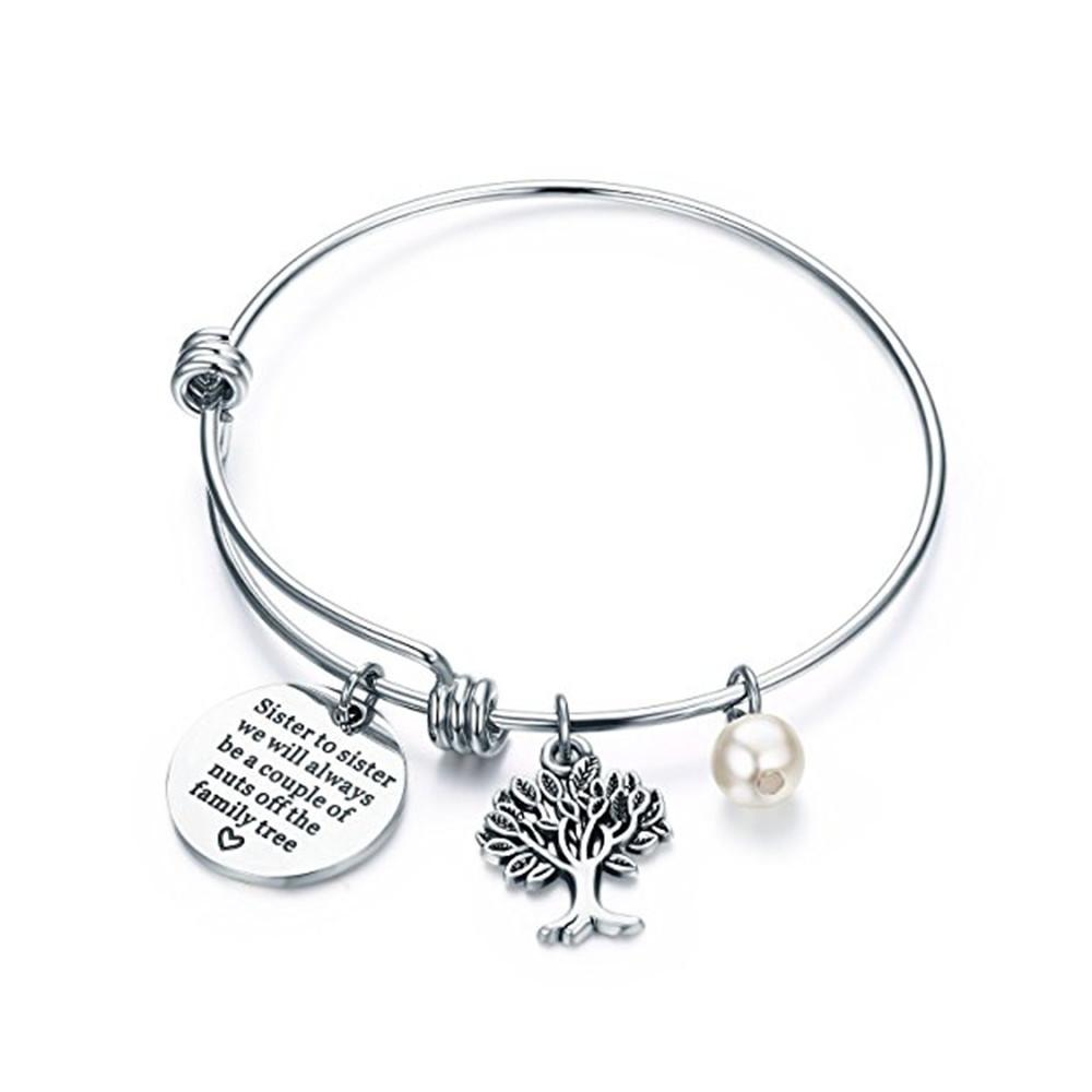 are sisters for life Sisters in Christ Stainless Steel Charm BFS4347