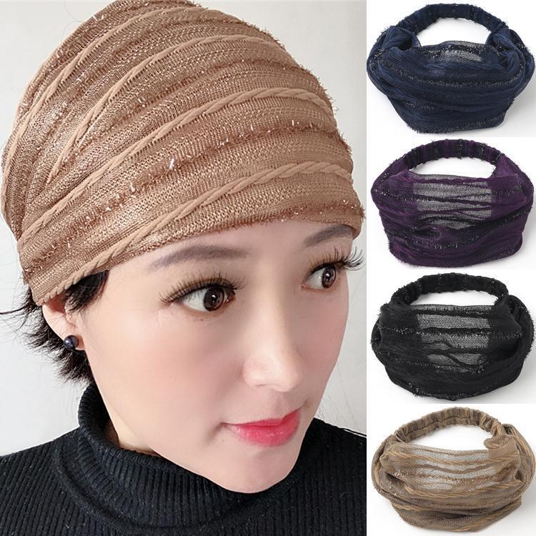 Kadınlar saç bandı Kadınlar Kız İçin 4 renk Tasarımcı geniş ağzına Çapraz kafa bandı Retro Turban kafa sarması Hediyeler baskılı