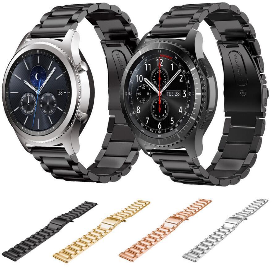 Banda de relógio de aço inoxidável 22MM para a engrenagem Samsung S3 tira de metal clássico para engrenagem S3 relógio inteligente 3 ligação pulseira