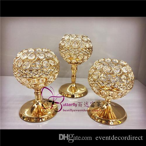 3pcs cristal candelabros boda centros de mesa candelabros Set para la fiesta de cumpleaños mesa de comedor regalos decorativos