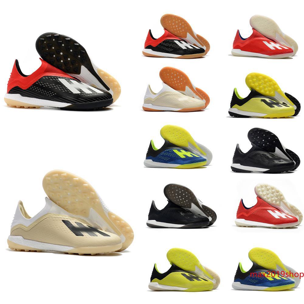 novos sapatos de futebol homens X Tango botas 18 EM CI TF RELVADO interiores grampos do futebol X 18 futebol scarpe da calcio us6.5-11