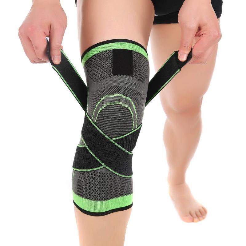 1PC Deportes Rodillera rótula hombres a presión elástica rodillera correa de soporte rodilleras rodilleras para Running Baloncesto Gimnasio