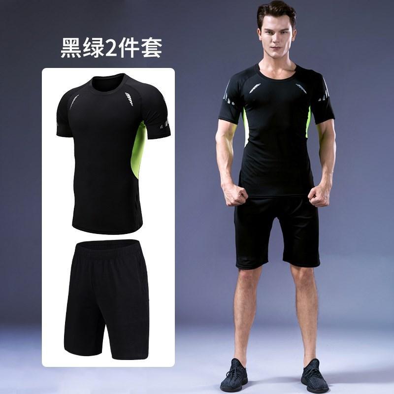 Хлопок полный спортивный костюм мужчины повседневная мужская Бодибилдинг спортивный костюм Erkek Giyim 2 шт спортивный костюм для мужчин функциональная одежда II50NSTZ