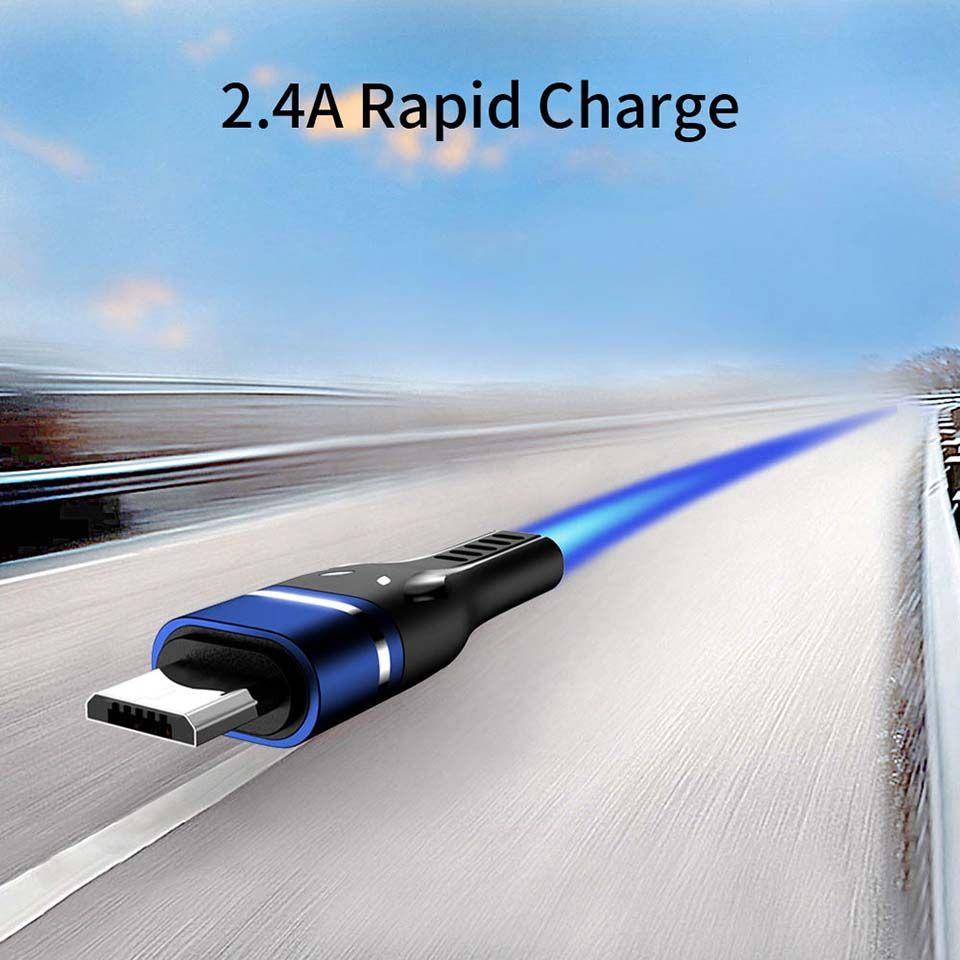 Kabel Micro-USB-de carga rápida 2.4A Kabel Micro USB für Samsung s5 s6 teléfono Android cargador Micro-USB-de-Kabel