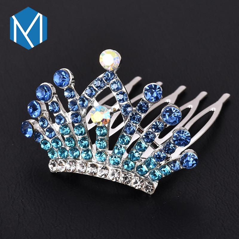 M MISM Girls Princess Rhinestones Crown Hairgrip Hairpins Hair Accessories For Womens Ornaments Hair Clips Wedding Party Brides