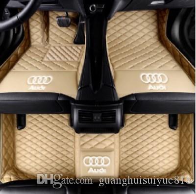 Adequado para Audi A5 / capota conversível tapete do carro 2010-2017 costura antiderrapante couro interior mat amiga do ambiente