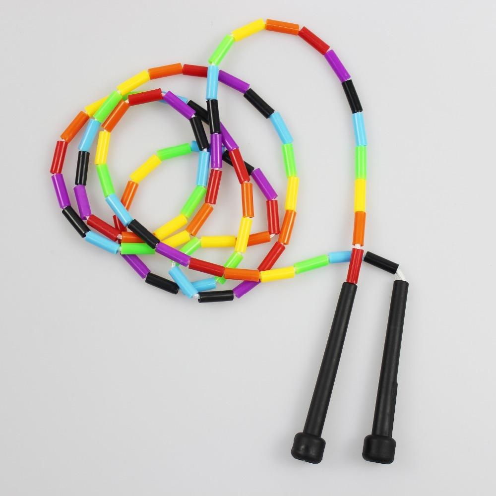 2PCS Speed Skipping Rope Plastic Beaded Segmented Strength Training Jump Rope Nonslip ABS Handle Skipping Ropes for MMA Training Y200506