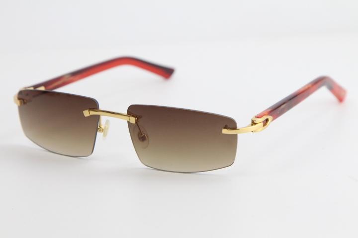 도매 무테 대리석 판자 선글라스 8100926 스타일 Utdoor 디자인 클래식 모델 선글라스 고품질 안경 남성과 여성