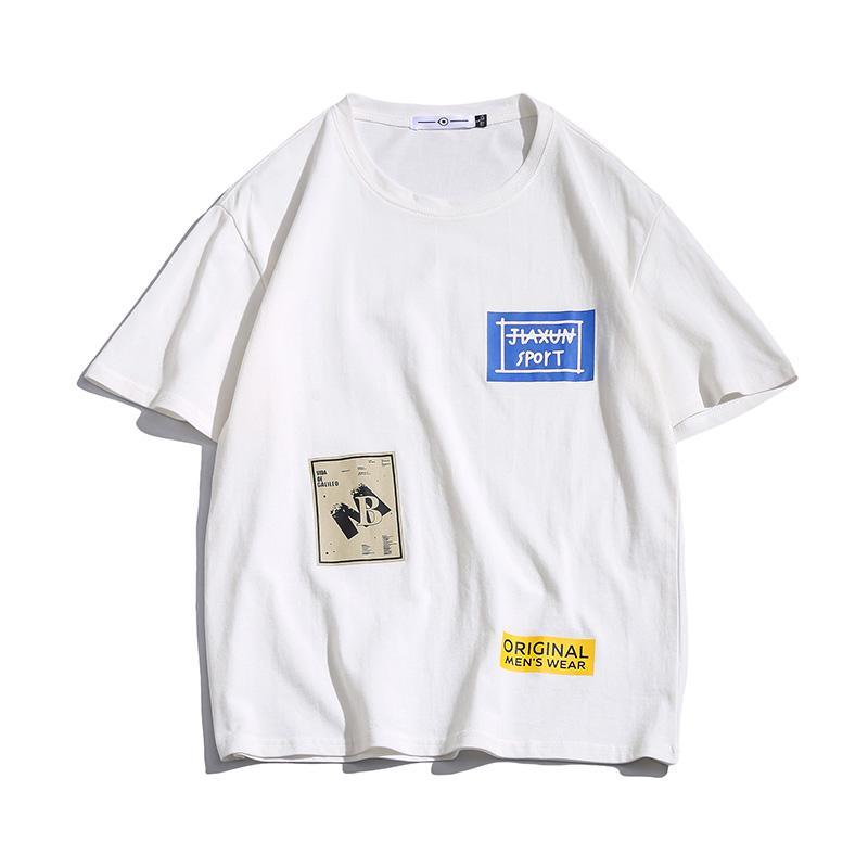 Streetwear coton T-shirt manches courtes hommes Impression Hommes T-shirts 2020 d'été du Nouveau shirt Homme