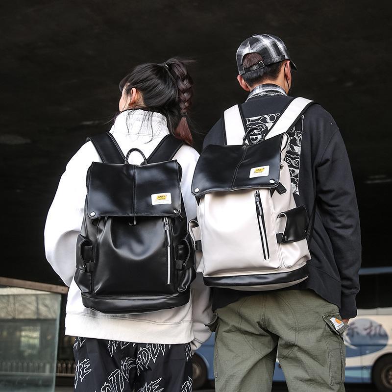 2020 nuevos hombres y mujeres PU mochilas ciclo de la secundaria los estudiantes de la escuela bolsas éxito la manera del color de gran capacidad mochila al aire libre