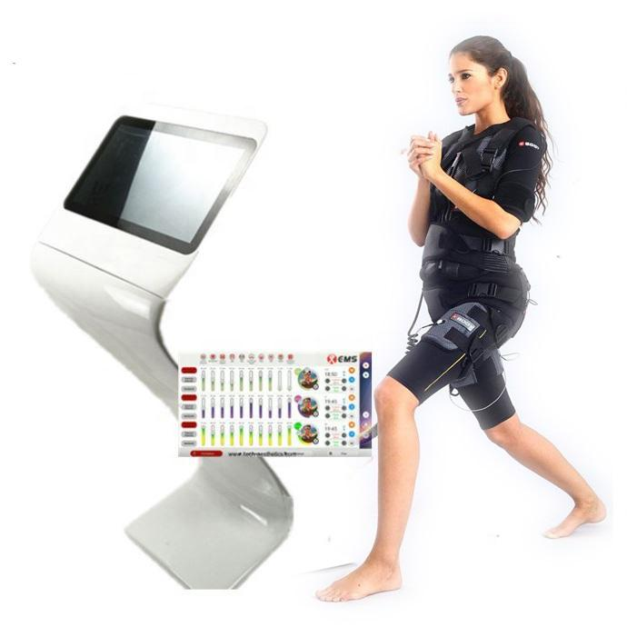 fitness machines /Electronic Muscle Stimulator / Health care Fitness Sliming Body EMS Training Suit Stand Device