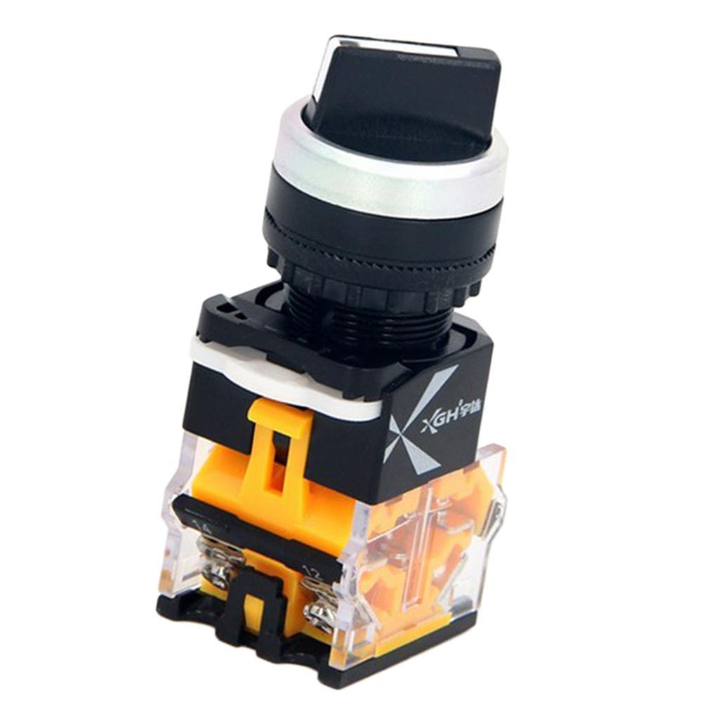 1 pieza de mango de plástico LA38 corto Control de interruptor de botón de dispositivo con cabeza de aluminio y Long servir a la vida