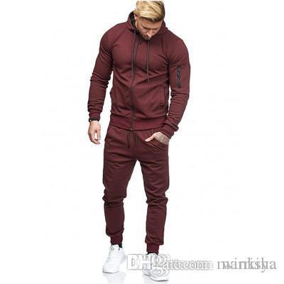 Mens Designer Survêtements Survêtement piste solide Couleur Costume Costumes de jogging hommes Pantalon de survetement