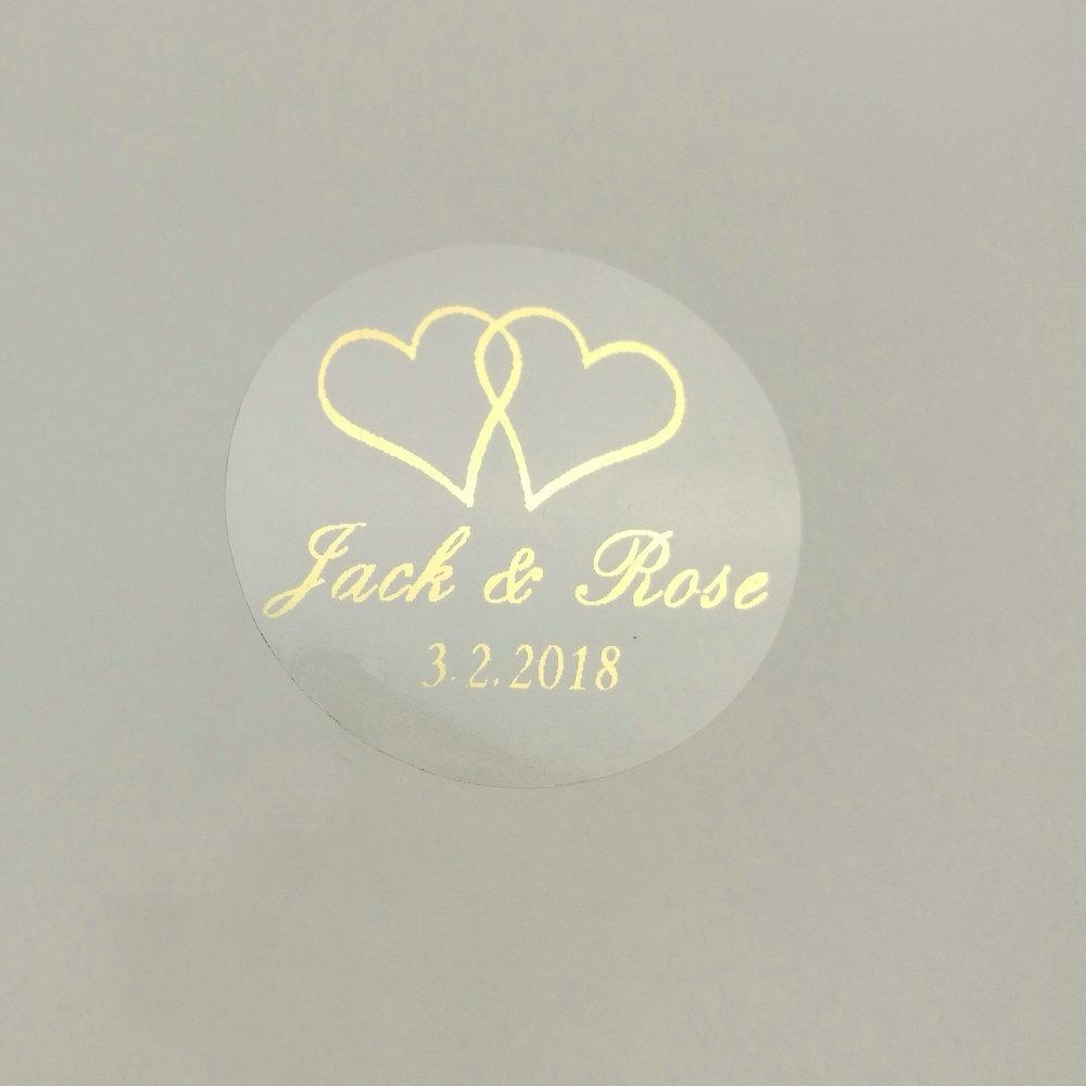 2020 30mm Customize Gold Printing Personalised Clear Transparent Wedding  Engagement Invitation Envelope Seals Sticker J190706 From Babala1, $26.54 |  DHgate.Com