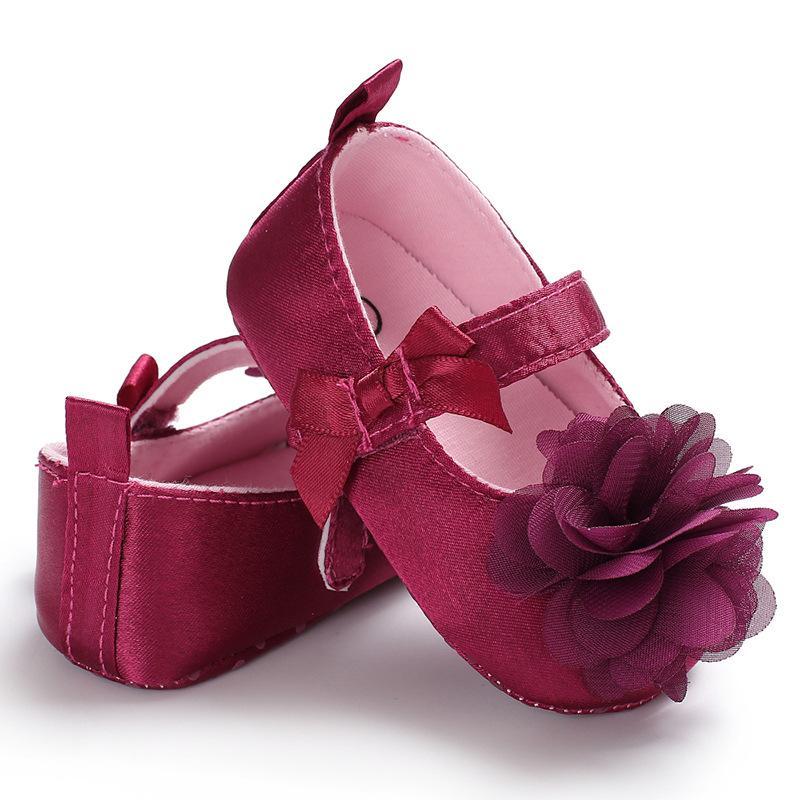 Grandi fiori bambino scarpe estive cotone anti-scivolo pattini delle neonate Sneaker Prewalker Patchwork Primi camminatori 0-18M