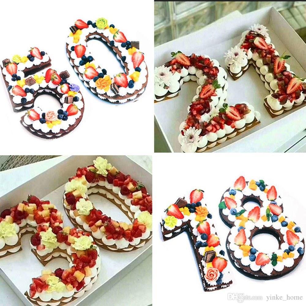 웨딩 생일 크리스마스에 퐁당 과자 베이킹 도구를 장식 0-8 숫자 케이크 금형 금형 케이크